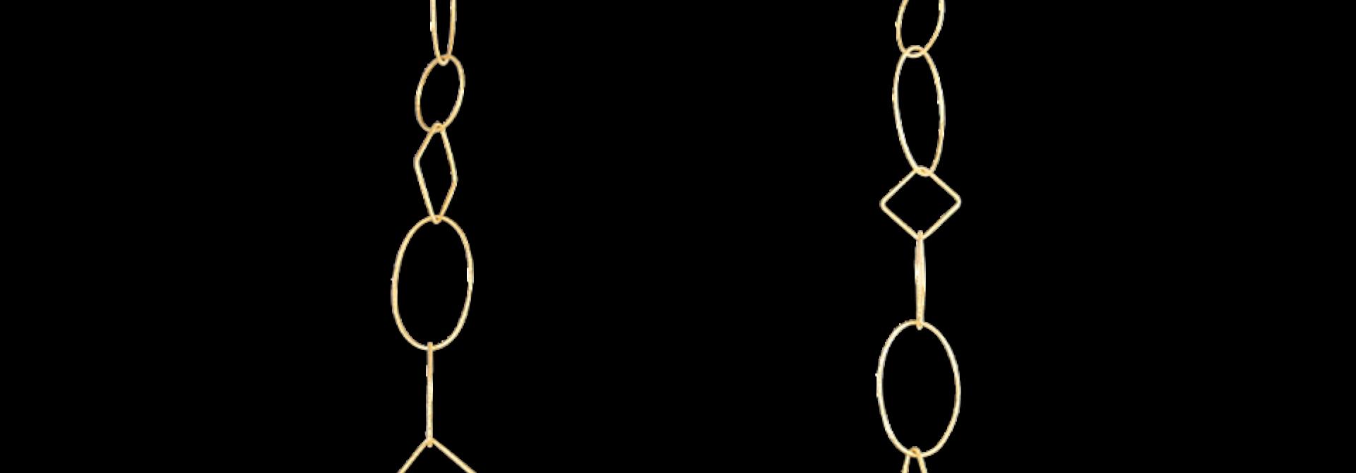 18k Gold Link Necklace