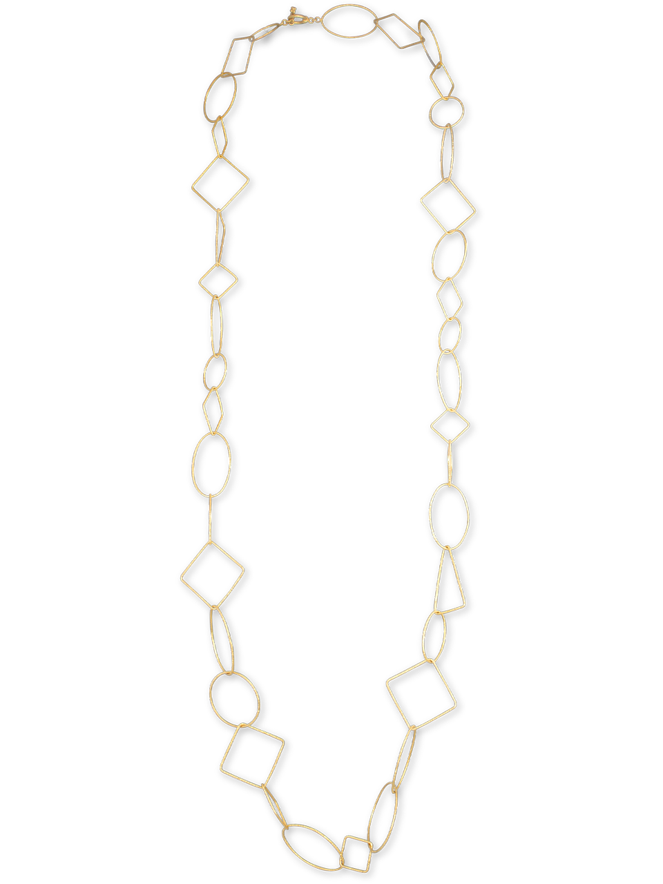 18k Gold Link Necklace-1