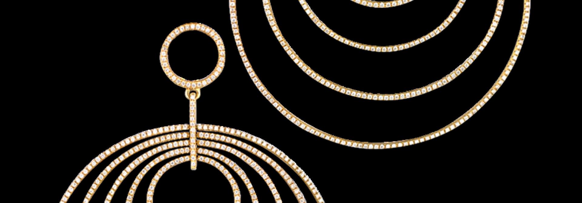Multi Hoop Diamond Earrings