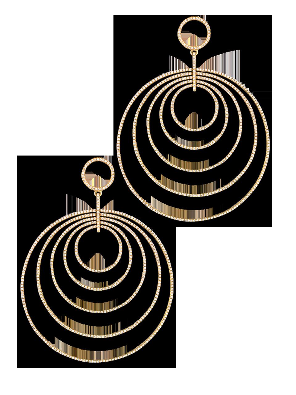 Multi Hoop Diamond Earrings-1