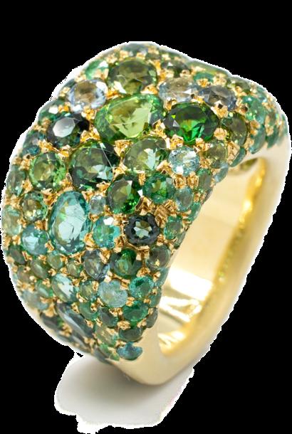 """Spring"" | Paraiba Tourmaline Ring"