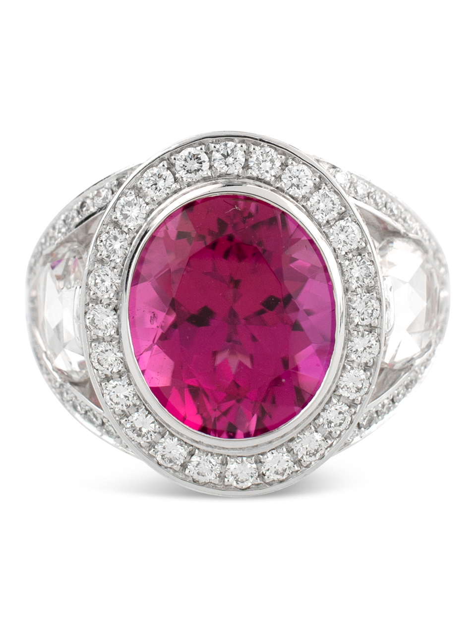 Rubelite & Diamond Ring-1