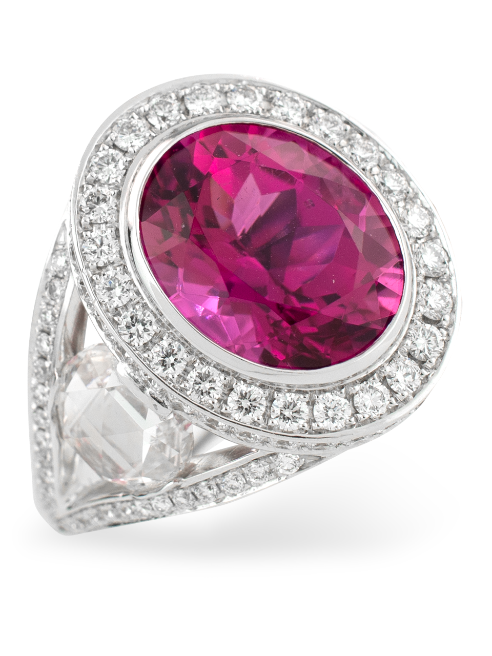 Rubelite & Diamond Ring-2