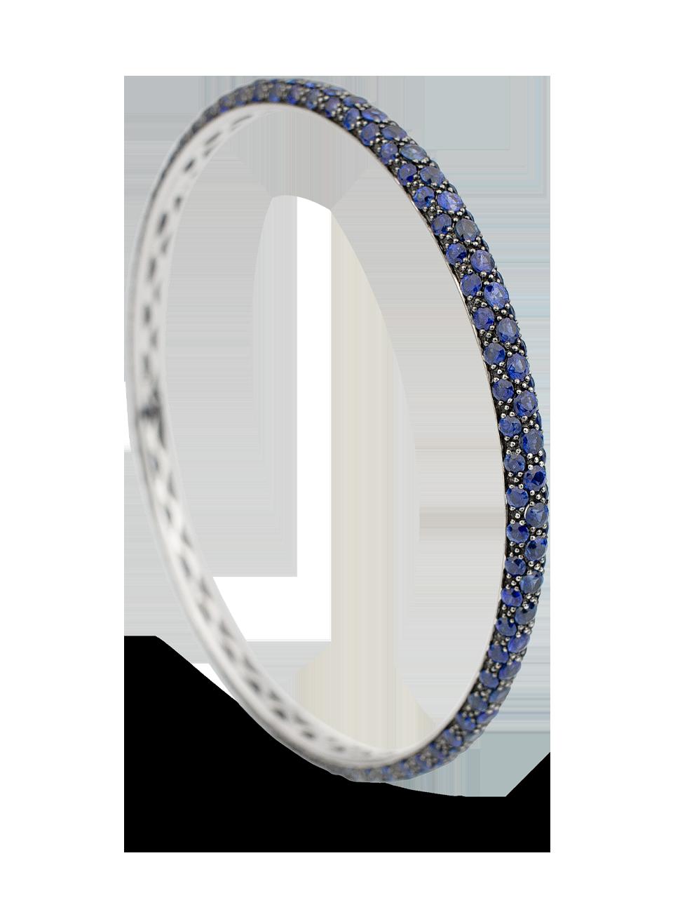Colored Gemstone Triple Set Bangle-1