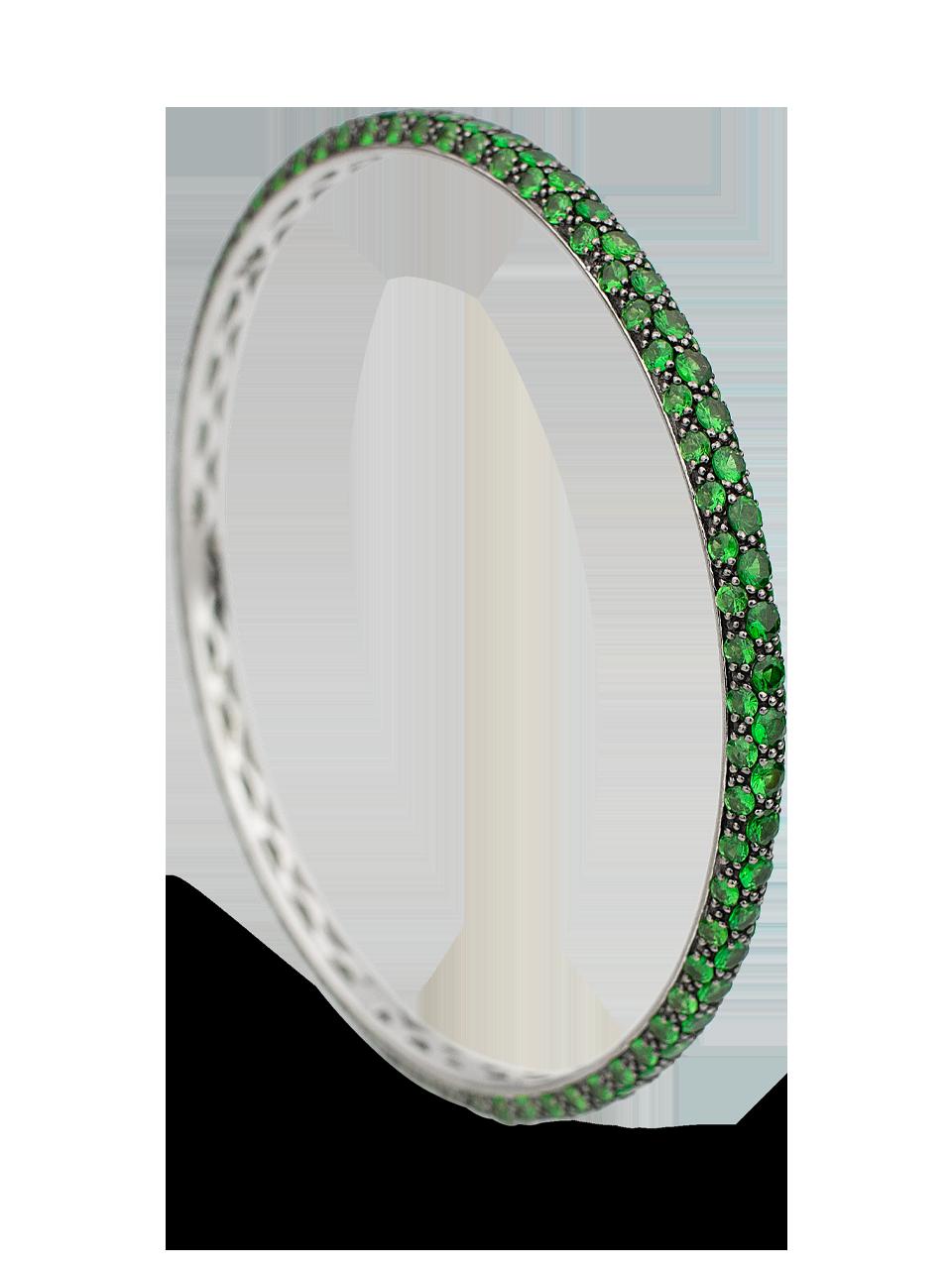 Colored Gemstone Triple Set Bangle-4