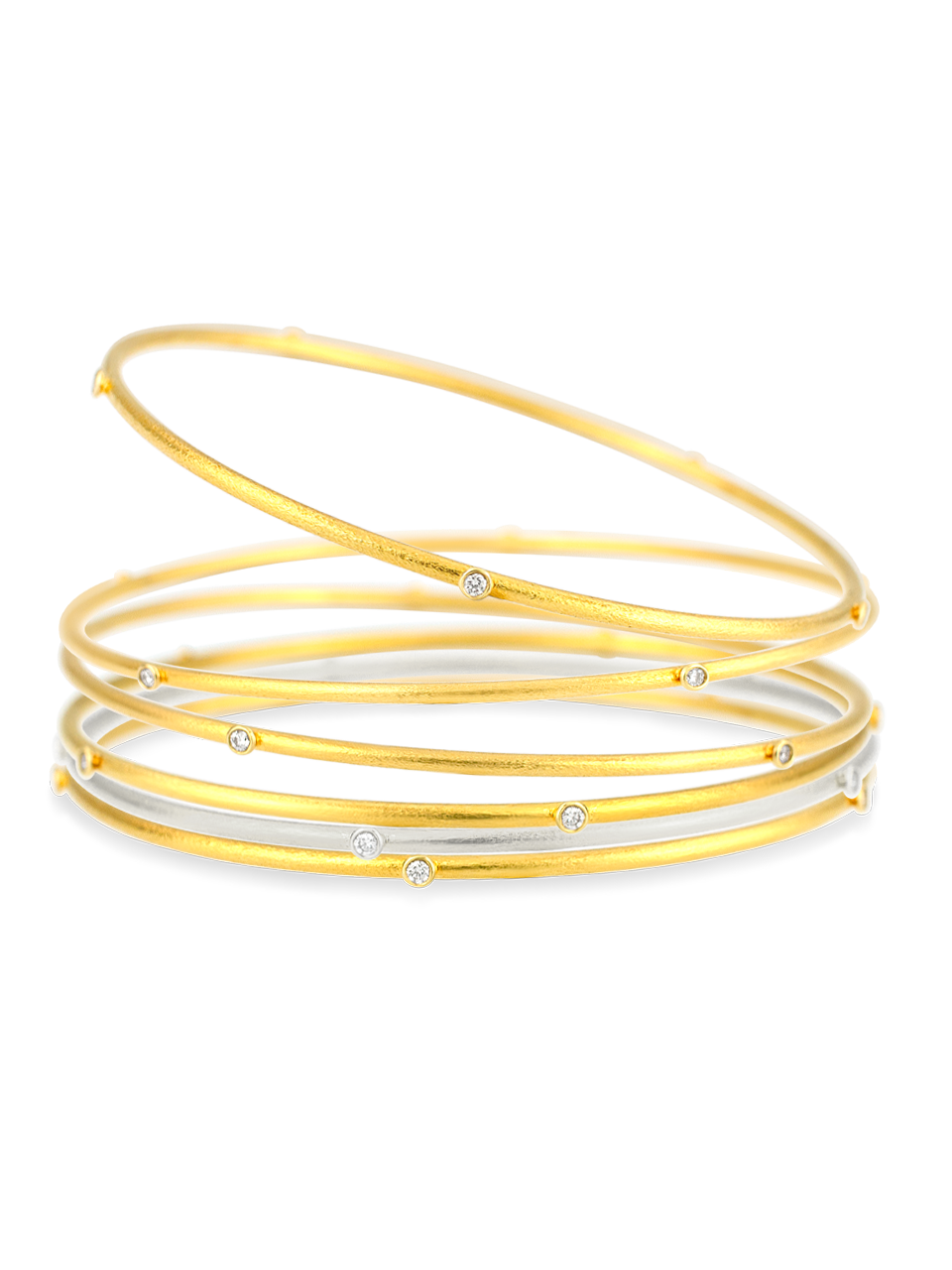 Diamond Gold Bangle-2