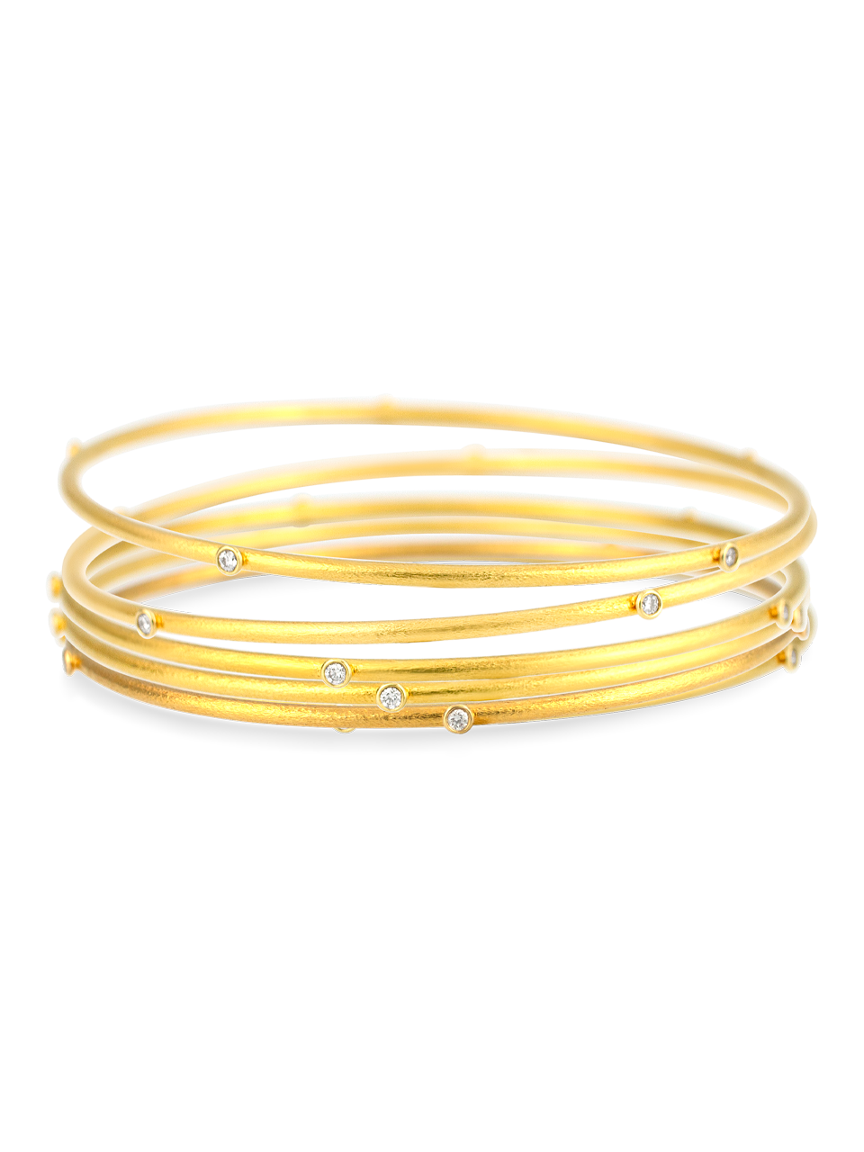 Diamond Gold Bangle-3