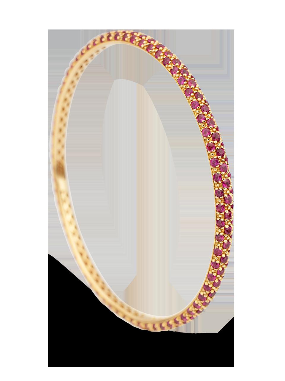 Colored Gemstone Triple Set Bangle-7