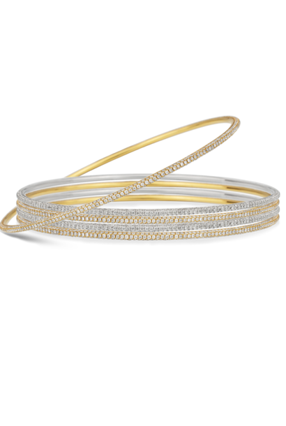 Thin White Diamond Bangle