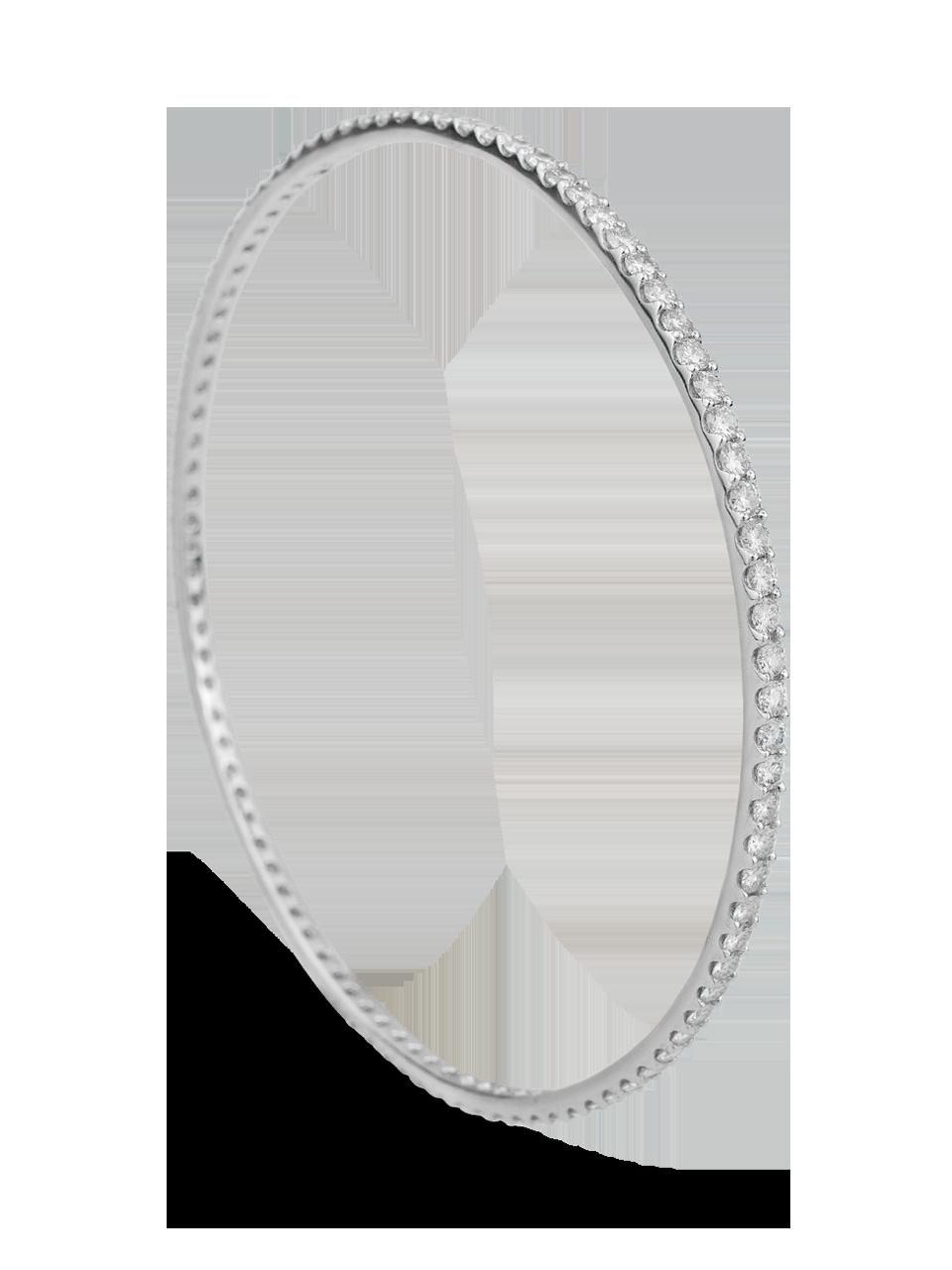 White Diamond Bangle-6