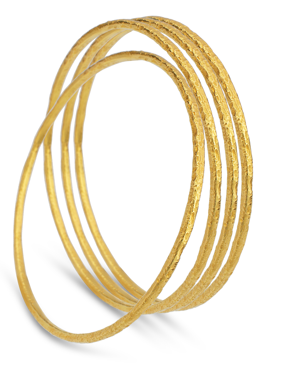 Textured Gold Bangle-1