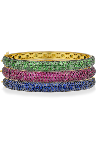 Colored Gemstone Bangle