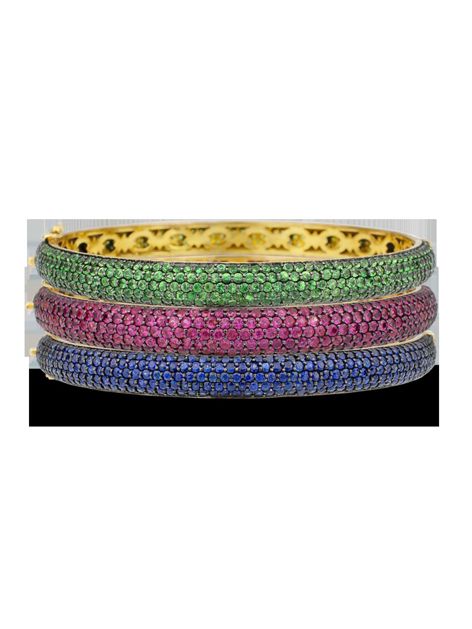 Colored Gemstone Bangle-2