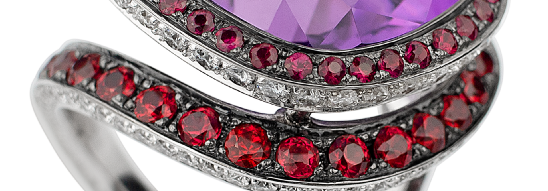Plum | Amethyst & Red Spinel Ring