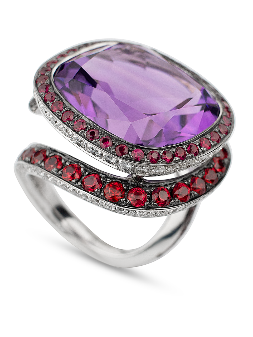 Plum | Amethyst & Red Spinel Ring-1