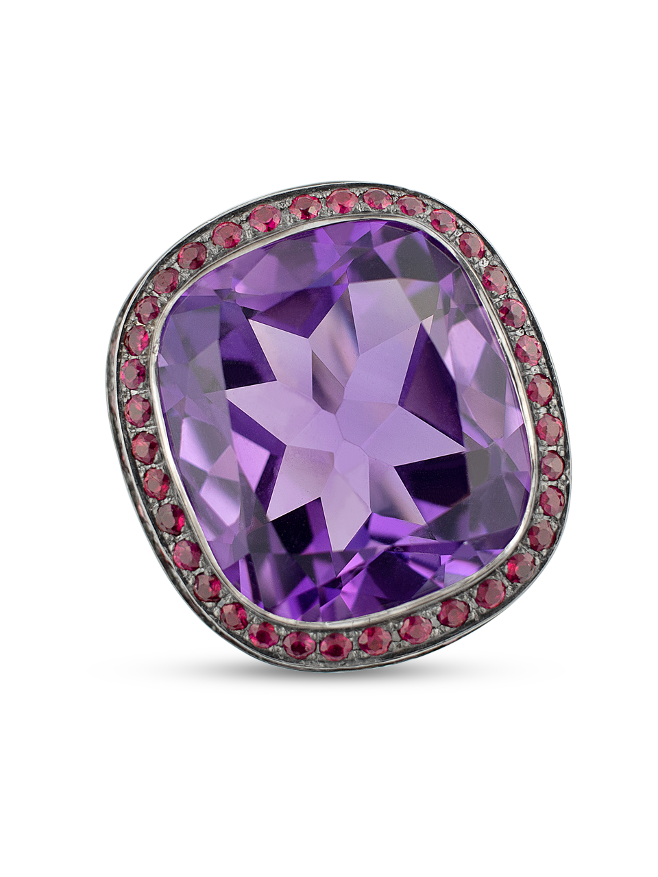 Plum | Amethyst & Red Spinel Ring-2