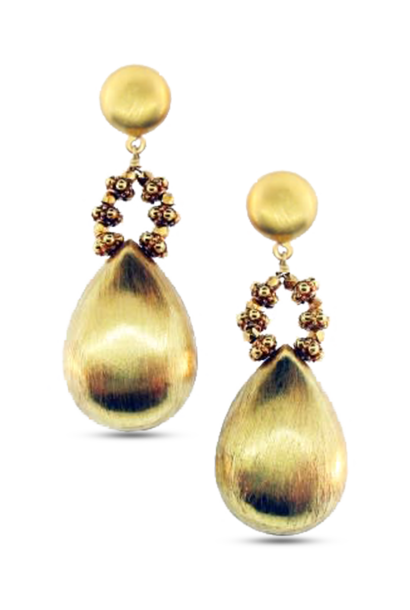 Gold Briolette Earrings