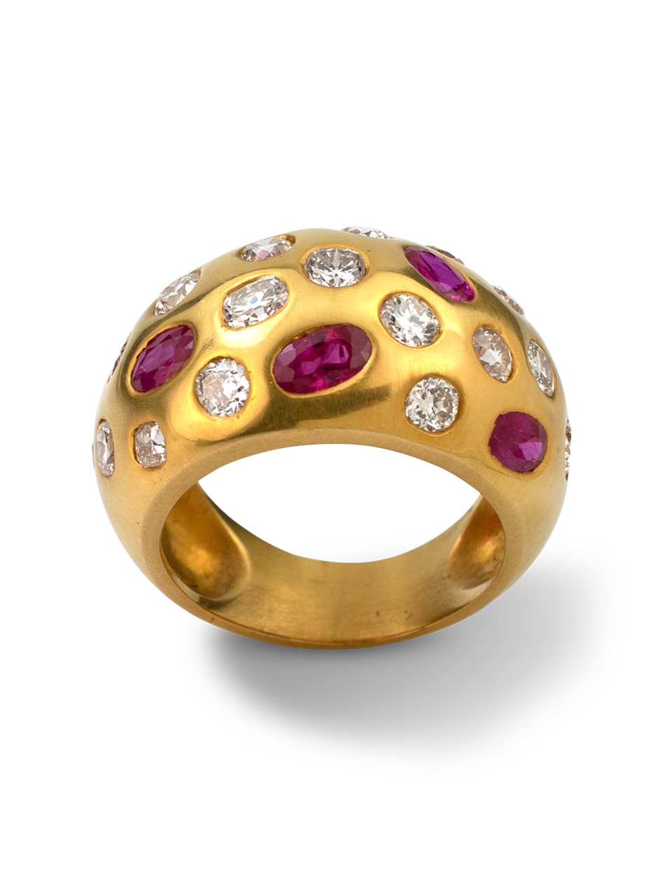 Ruby and Diamond Bombe Ring-1
