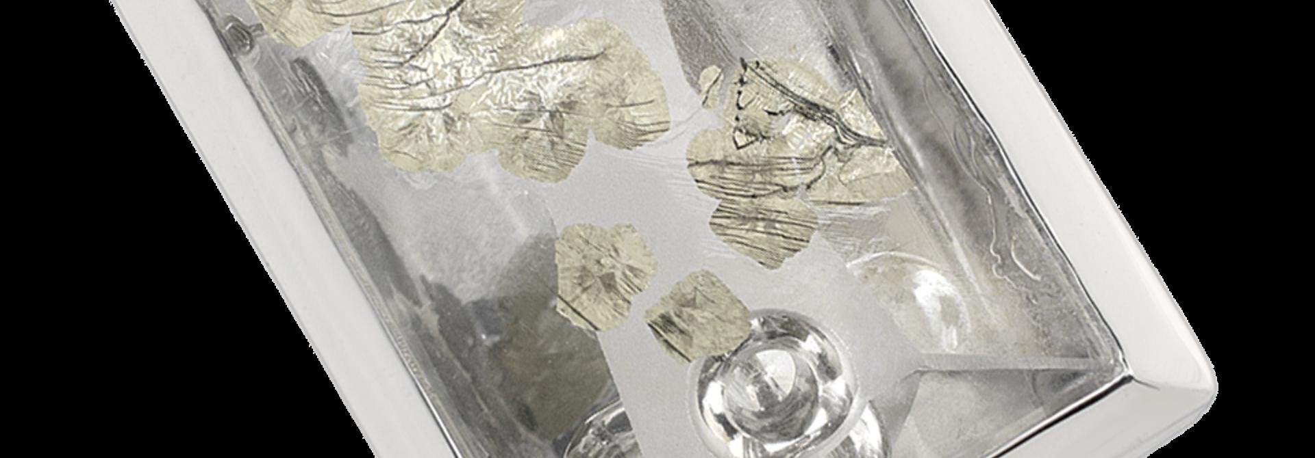 """Arctic Pond"" | Quartz with Pyrite and Diamond Ring"