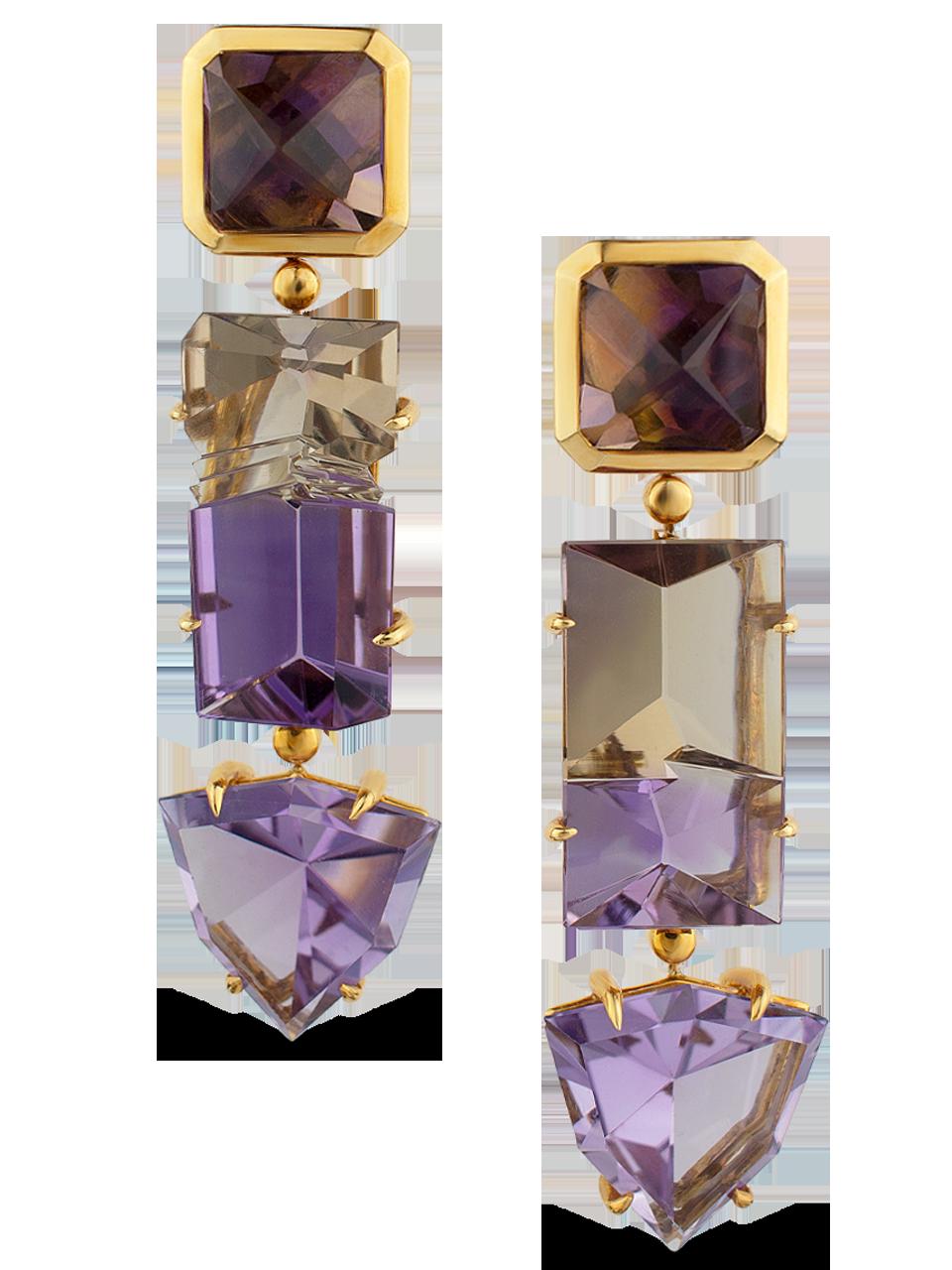 Amethyst & Ametrine Earrings-1