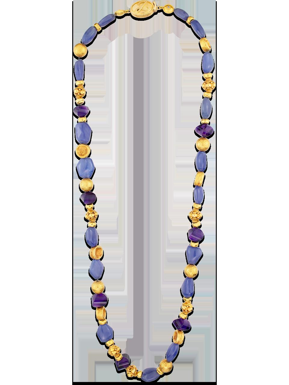 Tanzanite & Amethyst Necklace-1