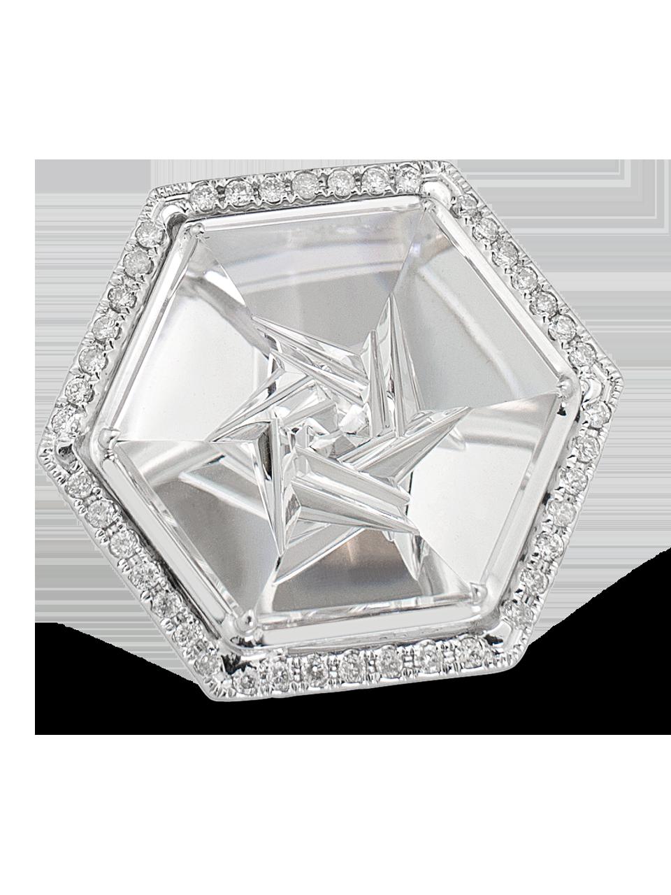 Crystal | Rock Crystal Quartz Ring-1