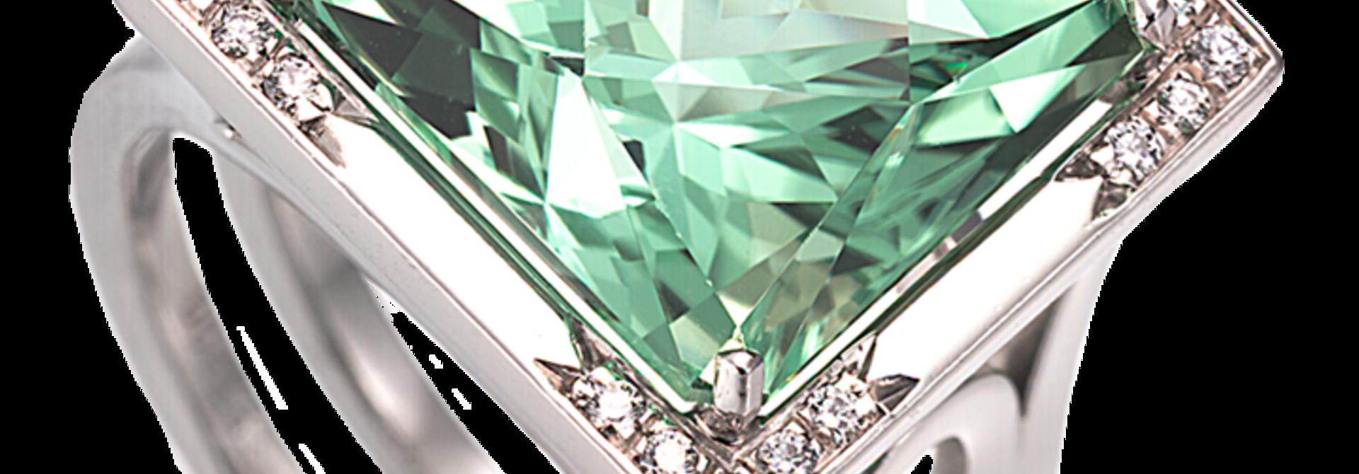 Mint Green Tourmaline Ring