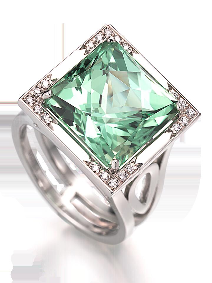 Mint Green Tourmaline Ring-1