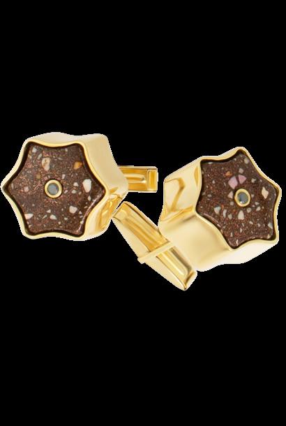 Star Copper Matrix Cufflinks
