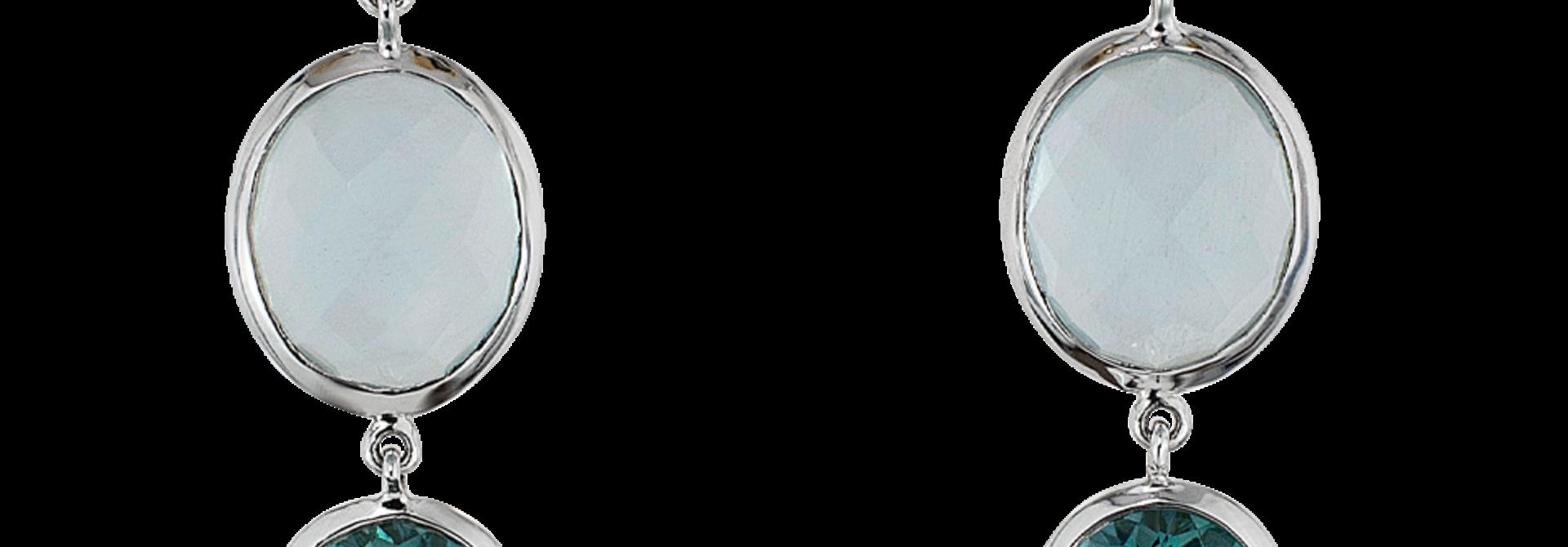 Aquamarine & Tourmaline Earrings