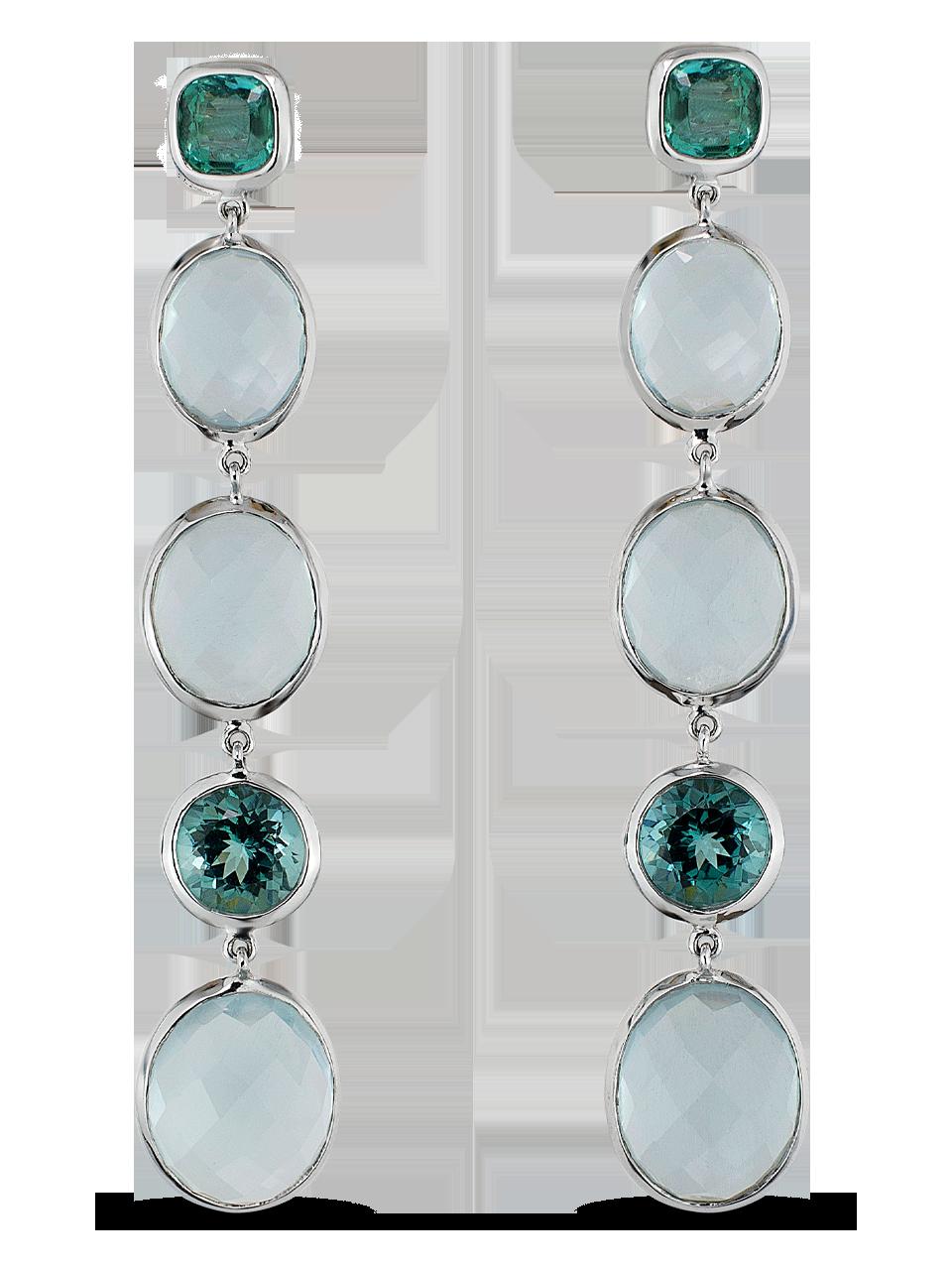 Aquamarine & Tourmaline Earrings-1
