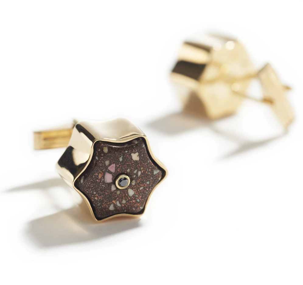 Star Copper Matrix Cufflinks-2