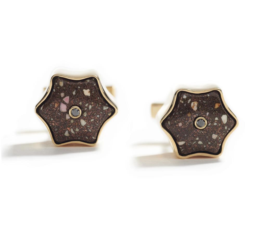 Star Copper Matrix Cufflinks-3