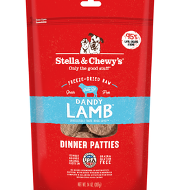 STELLA & CHEWY'S Stella & Chewy's | Dandy Lamb Freeze Dried Patties 14 oz