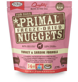 PRIMAL PET FOODS Primal | Freeze Dried Nuggets Canine Turkey & Sardine Formula 14 oz