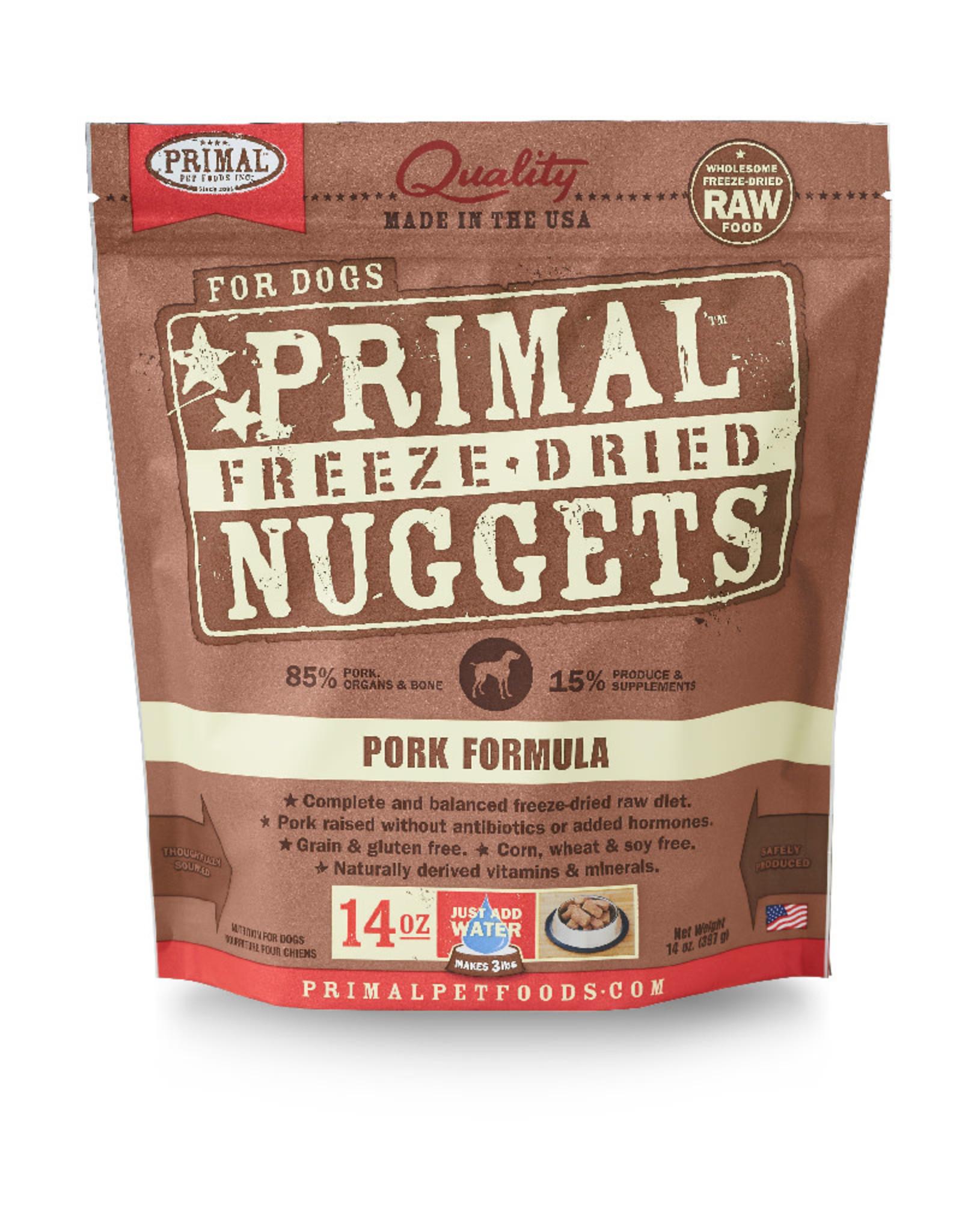 PRIMAL PET FOODS Primal | Freeze Dried Nuggets Canine Pork Formula 14 oz
