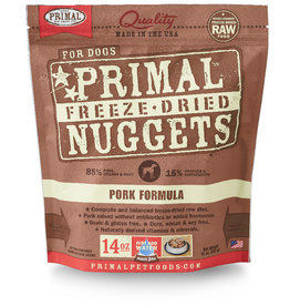 PRIMAL PET FOODS Primal | Freeze Dried Nuggets Canine Pork Formula 14 oz