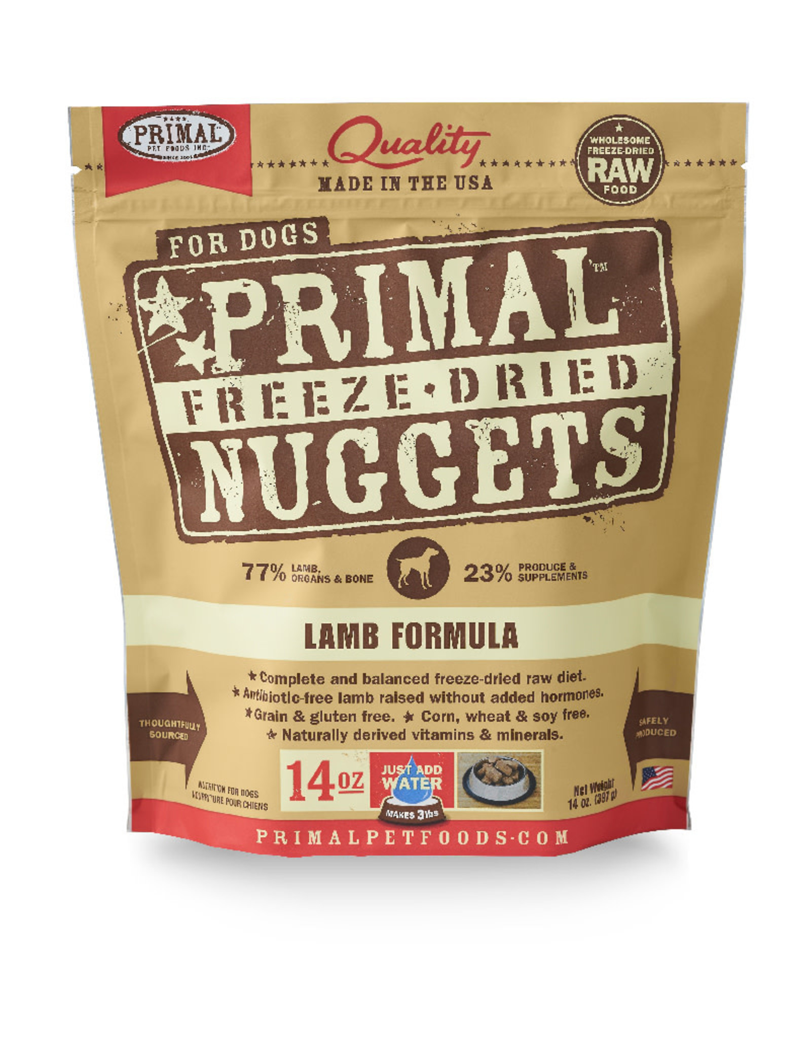 Primal | Freeze Dried Nuggets Canine Lamb Formula 14 oz