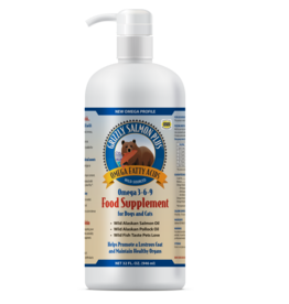 GRIZZLY PET PRODUCTS Grizzly Salmon Oil 16 OZ Pump