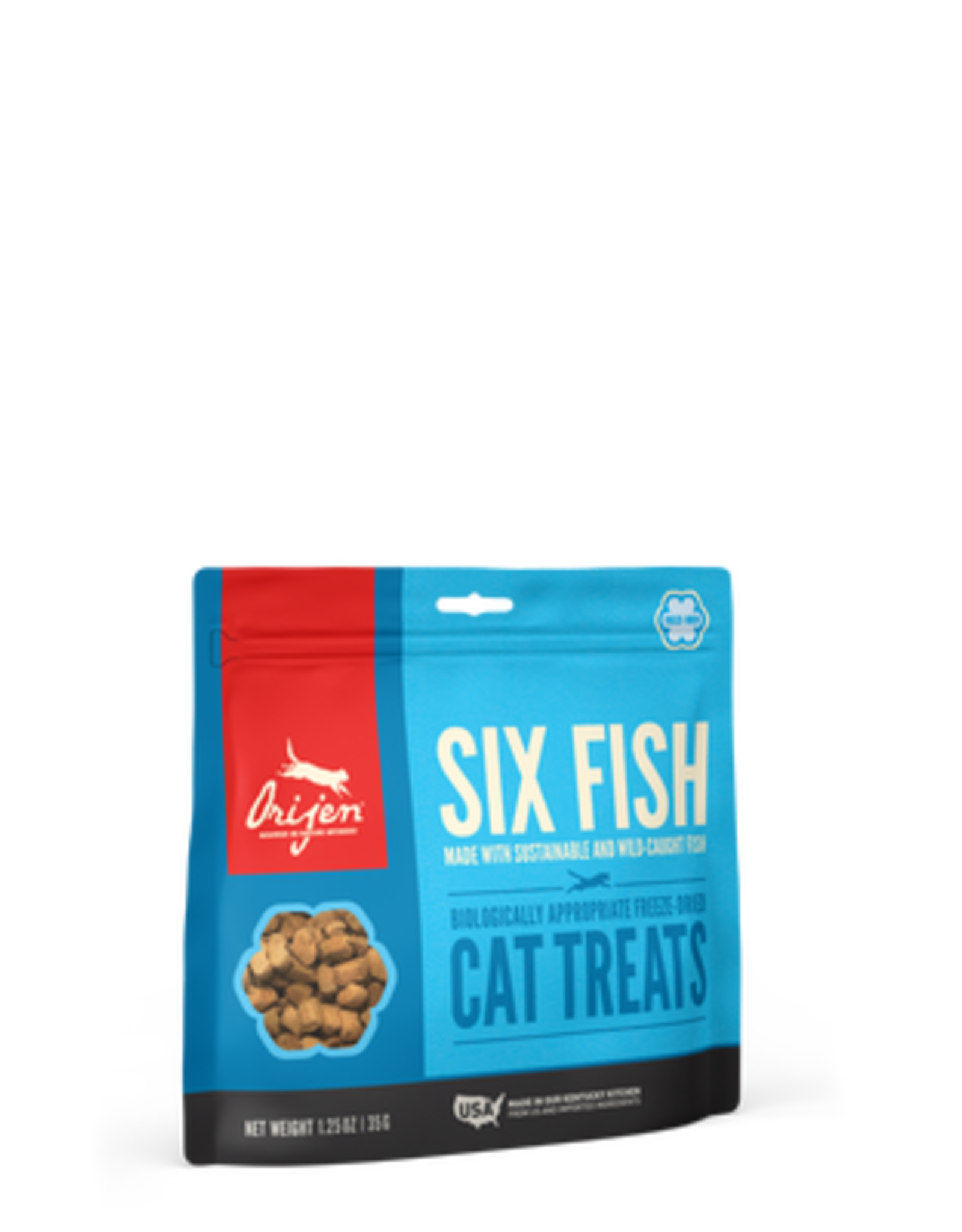 Orijen Orijen Freeze Dried Cat Treats 6 Fish Recipe with Sustainable & Wild-Caught Fish Mackerel, Flounder, Monkfish, Herring, Redfish, & Hake1.25oz