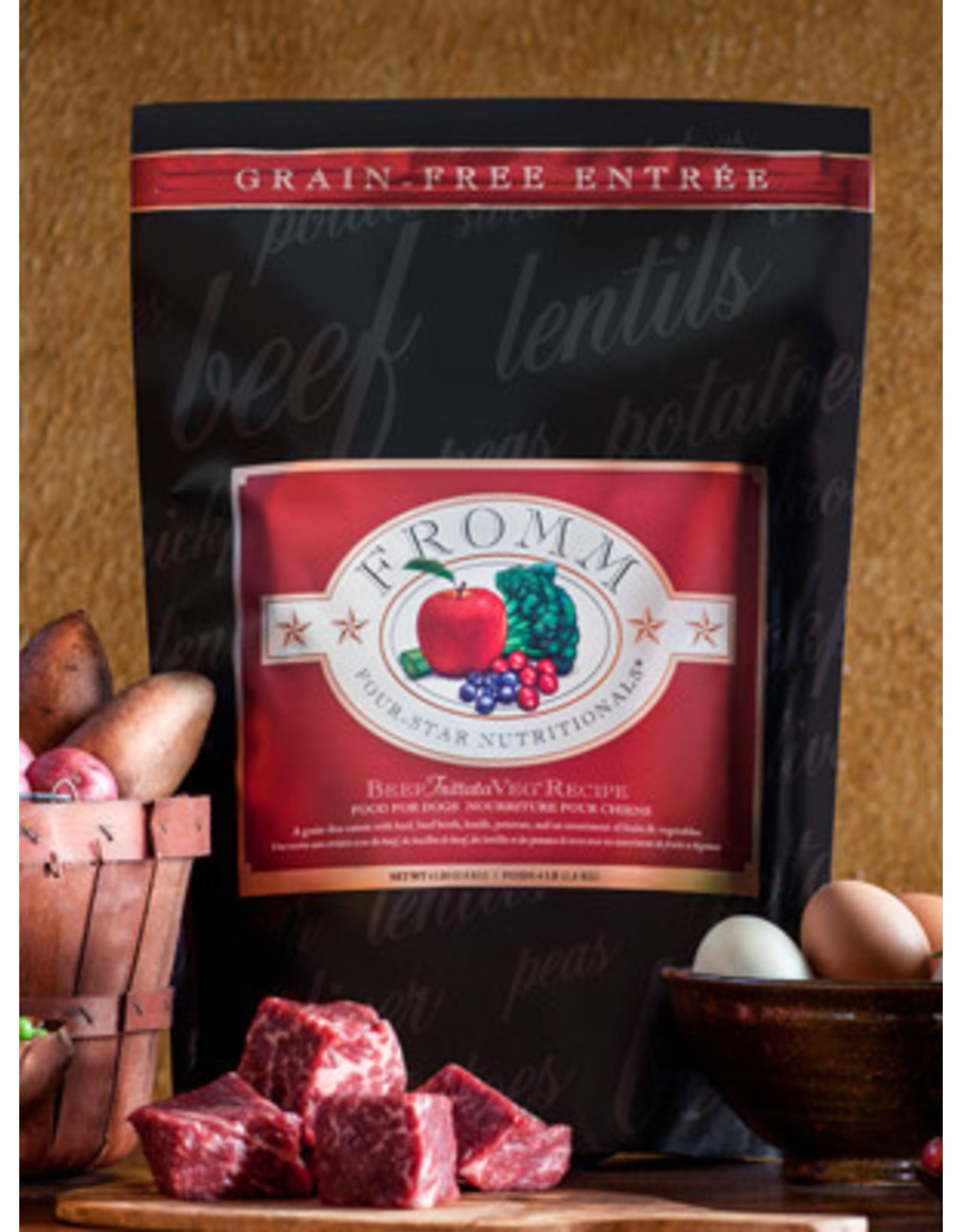 Fromm Fromm Dry Dog Food 4Star Beef Frittata Veg Recipe Beef, Lentils, Potatoes, & Fruits & Vegetables Grain Free