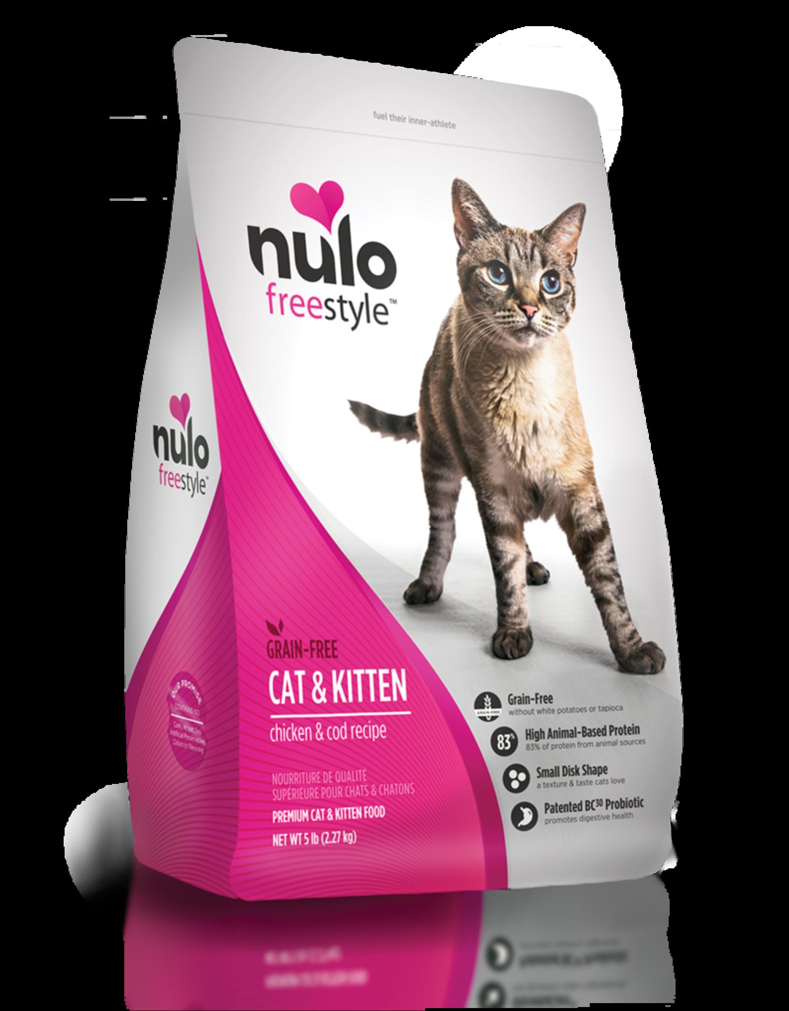 Nulo Nulo Dry Cat Food Freestyle Cat & Kitten Chicken & Cod Recipe Grain Free