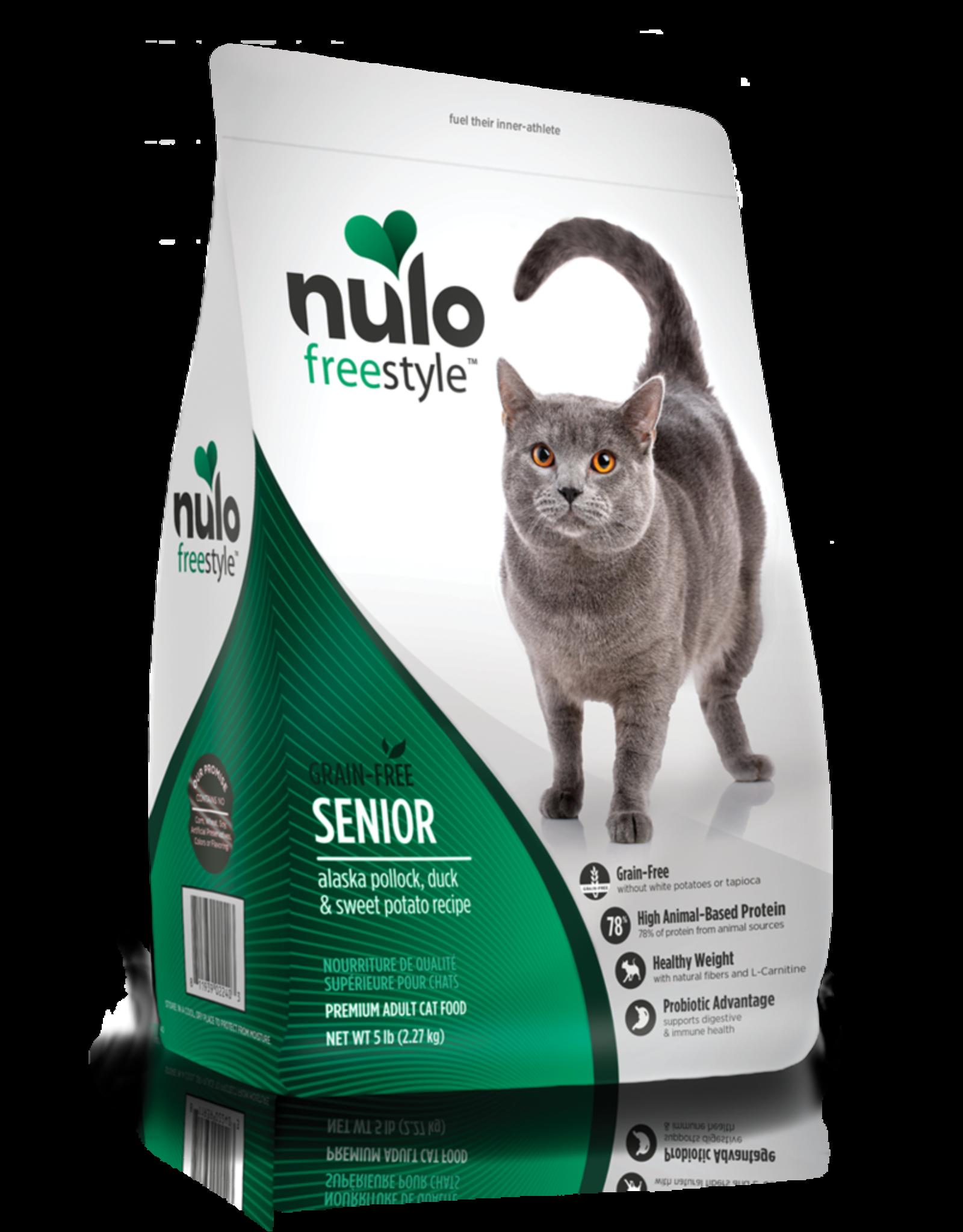 Nulo Nulo Dry Cat Food Freestyle Senior Alaska Pollock, Duck, & Sweet Potatoes Recipe Grain Free