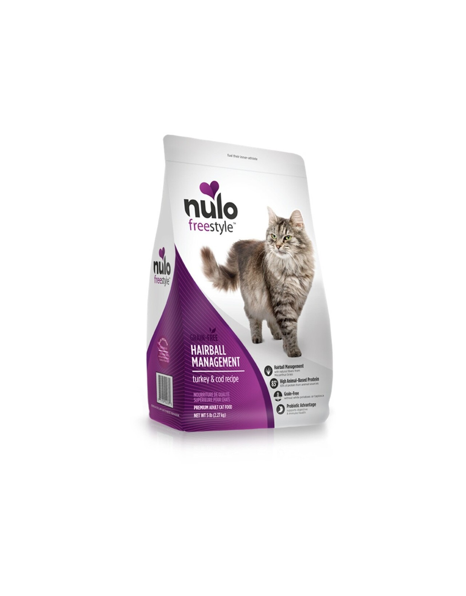 Nulo Nulo Dry Cat Food Freestyle Hairball Management Turkey & Cod Recipe Grain Free