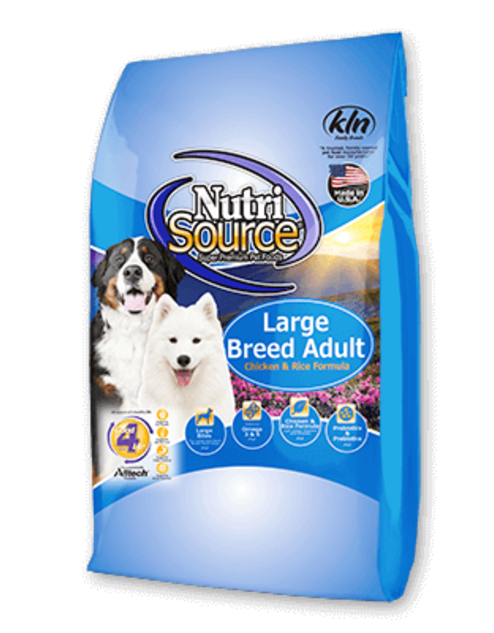 NutriSource NutriSource Dog Dry Large Breed Adult Chicken & Rice Formula Grain Inclusive 30lb