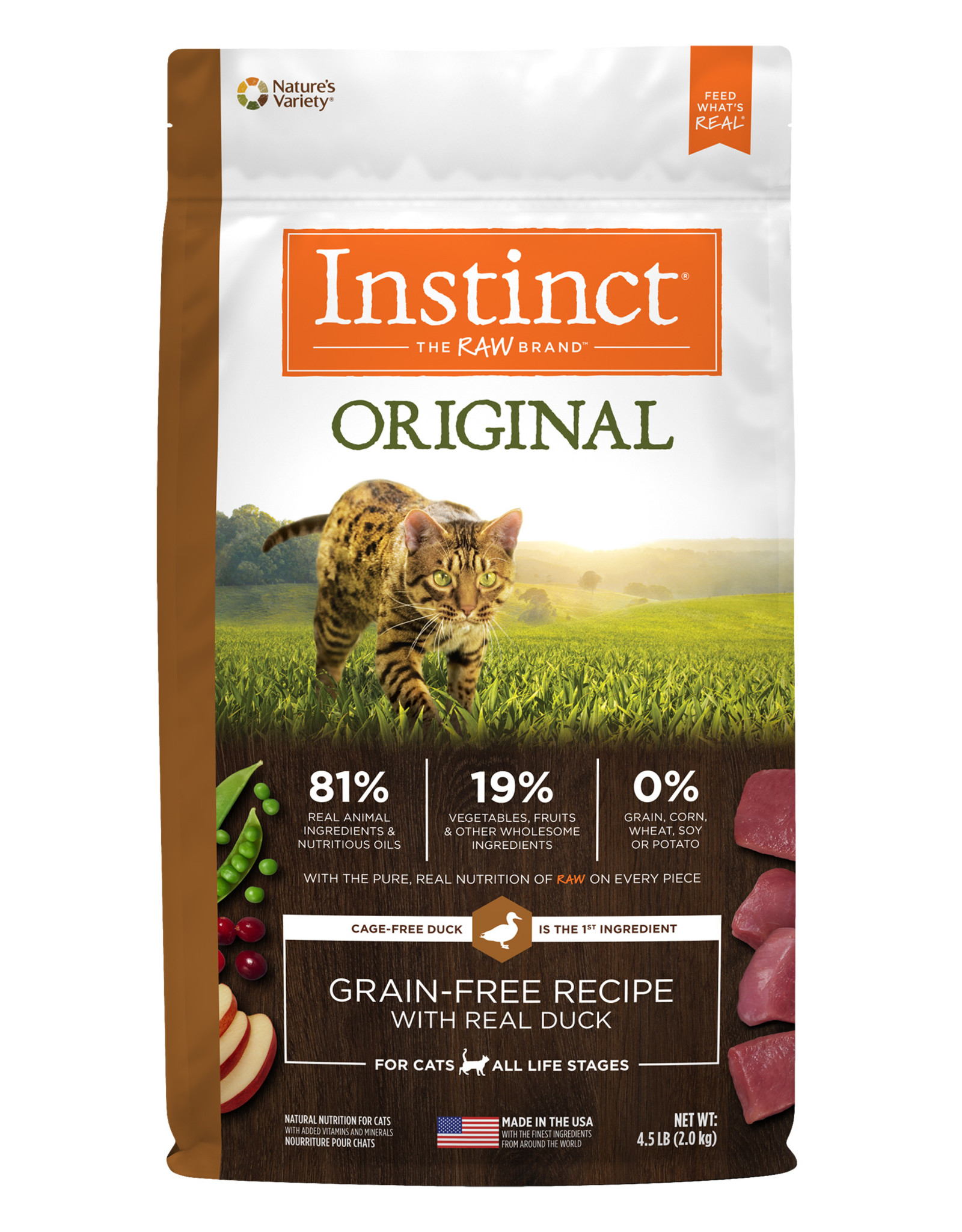Nature's Variety Nature's Variety Instinct Dry Cat Food Original Grain Free with Real Duck Recipe