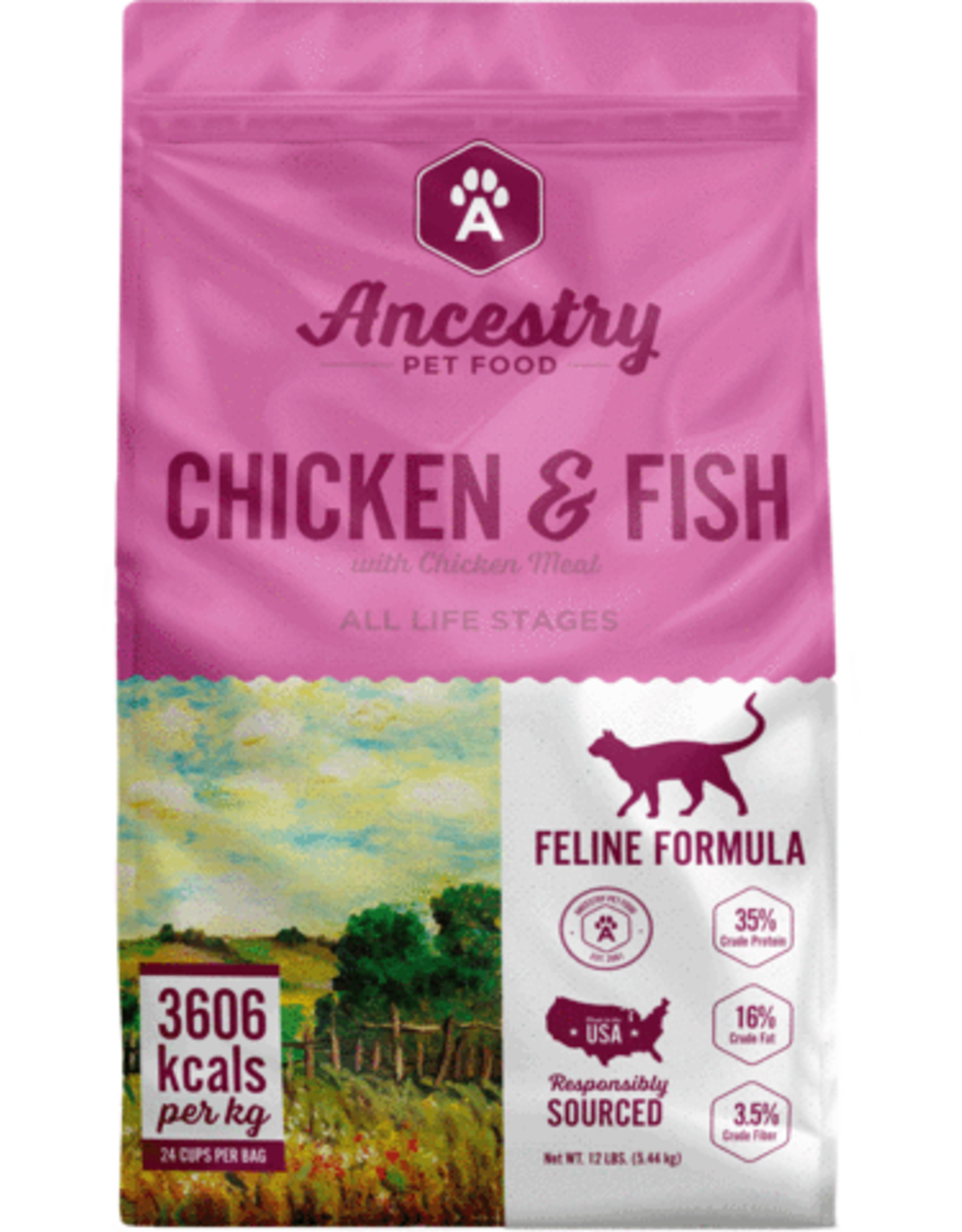Ancestry Ancestry Dry Cat Food Chicken & Fish with Chicken Meal 4lb bag Grain Free