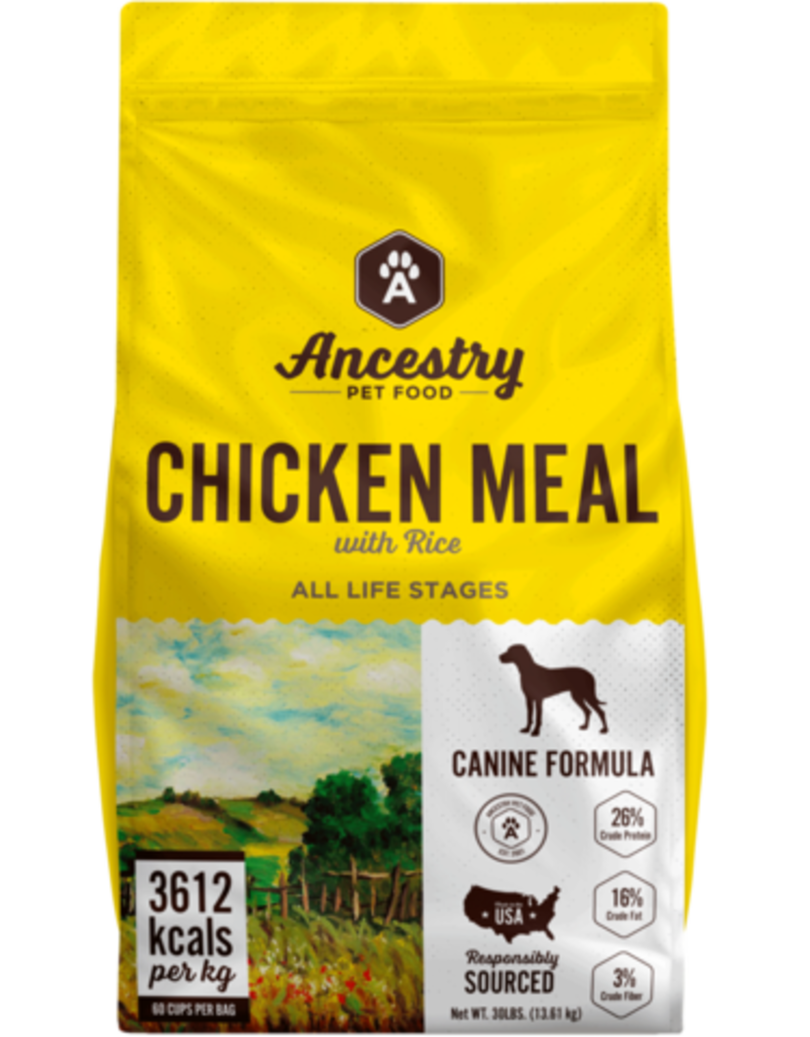 Ancestry Ancestry Dry Dog Food Chicken Meal with Rice Grain Inclusive