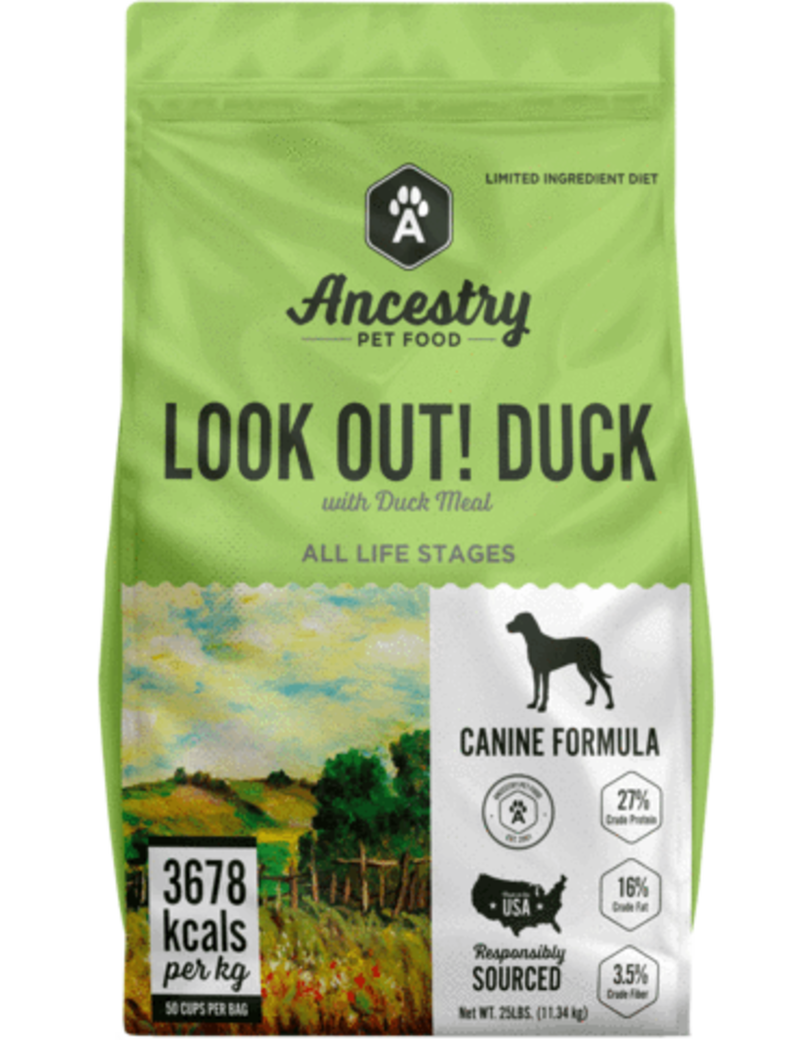 Ancestry Ancestry Dry Dog Food Look Out! Duck with Duck Meal Limited Ingredient Diet Grain Free