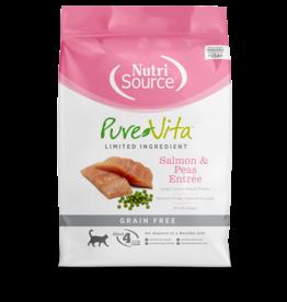 NutriSource Pure Vita Cat Dry LID Salmon & Peas GF